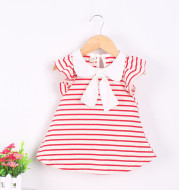 Children's girls summer dress, cotton 6-9-12 month baby princess skirt, 1-3 year old female baby skirt Xia Chunmian