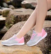 2017 summer new Korean leisure sports shoes breathable female singles shoes shoes tide flat.