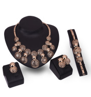 Korean fashion bride jewelry set, alloy four sets of electroplating jewelry explosion, manufacturers source