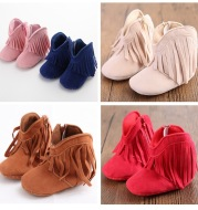 Babyshoes tassels, baby boots, tassels, baby boots, soft soled shoes, toddler shoes