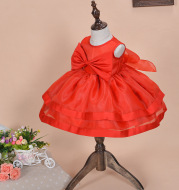 A 2020 New Baby Dress Baby Princess Dress Girls wedding dress skirt red flower age