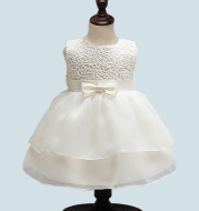 Children's wear in summer, Europe and the United States, new girls, Baby Dresses, full moon, 100 year old children, yarn dress, Princess Dress