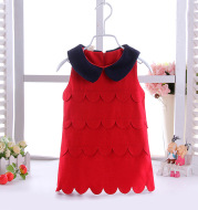 Children 1-5 years old infants in autumn and winter wool dress fashion girls single trips skirt