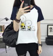 2017 summer women's new short sleeve T-shirt Korean female loose white cartoon pattern students half sleeve T-shirt