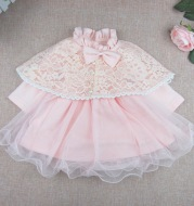 Spring and autumn baby hundred day photography dress, princess skirt, female baby, one year old Lace Princess Dress with Cloak