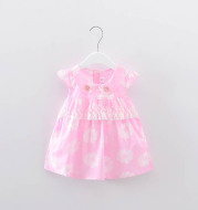 The summer wear female baby children 0-1-2-3 years old baby Princess Dress Girls Summer skirt dress cotton