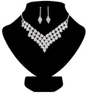 Amazon burst bride suite Crystal Necklace party party Necklace