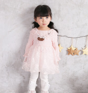 IDEA2021 spring New Girl Korean dress, baby baby lace skirt, fashion child skirt 8897