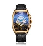 SEWOR watchautomatic mechanical hand hollow skull epidermal business Strap Watch