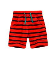New Summer Cotton Stripe Boys Casual Shorts
