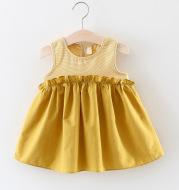 Foreign trade children's wear 2021 summer new baby pure cotton sleeveless dress, girl baby Korean version princess skirt