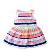 2020 new female baby infant dress summer stripe vest dress children all-match skirt