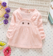 In the autumn of 2020 new children's skirt dress baby infant long sleeved cartoon rabbit princess dress color cotton
