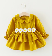 The new girl dresses wholesale wholesale autumn baby wear long sleeved dress princess dress Taobao consignment