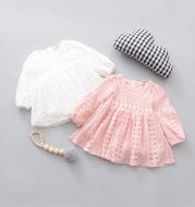 Kids girls dress autumn 2021 new infant nubao leisure skirt child one generation E3039