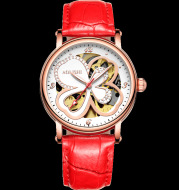 Glen clover watches female automatic mechanical watch waterproof hollow fashion women casual watch belt