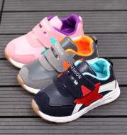 2017 new spring children sports shoes baby shoes leather shoes, fashion casual function B107