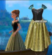 European and American foreign trade children frozen Anna slim girls dress princess dress factory direct