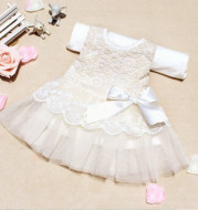Summer Infant virgins sleeveless lace yarn dress baby girls bow vest skirts a generation