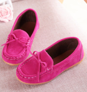 Spring, autumn and winter children's shoes, peas shoes, men's and women's shoes, suede shoes, baby shoes, wholesale bows