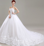 2020 new bride wedding tube top large size Qi Korean style simple slim slimming long tail female
