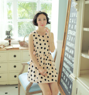 Women's Hollow-out Back Printing Dress