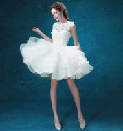 2016 new bridesmaid dress, bride wedding short dress, toast, annual dress, presided over the performance
