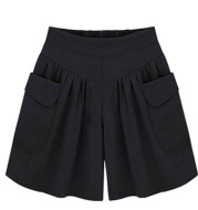 Wide Thigh Women Shorts With Two Pockets
