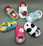 Rebecca Aibei Leather Baby Toddler shoes series animal soft bottom anti lost baby shoes baby toddler shoes wholesale
