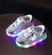 LED shoe magic button