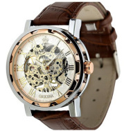 The European Qina genuine orkina watch Amazon hollow retro manual mechanical watch men table belt