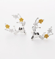 Especially, the new 925 sterling silver earrings are all-match (deer earrings) jewelry wholesale