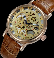 A power generation business explosion full manual mechanical watch belt pierced through the end of the men's Waterproof