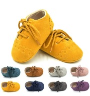 2020 spring and autumn lace leisure, 0-1 year old baby toddler shoes, soft soles baby shoes