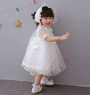 Spring 2021 dress baby girls age baby full moon princess dress flower wedding dress Princess Dress
