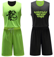 Double sided basketball wear suits, men's basketball jerseys, double jersey, sportswear, group buying, brand new wholesale