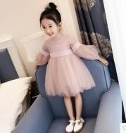 Girl dress, long sleeve princess dress, 2020 children dress, autumn dress Princess House, lace big child yarn skirt wholesale for children