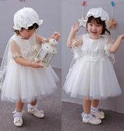 2021 full moon baby baby wash dress Princess Dress Baby Dress shawl Hat Winter Dress Skirt