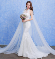Wholesale 2020 new bride wedding fashion lace fishtail skirt Slim Skinny tail wedding dress D92