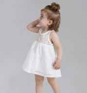 Girls dress baby summer 0-5 Old Lace vest dress skirt Korean children summer female baby princess dress
