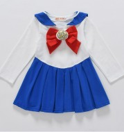 2020 spring and autumn new version of Korean children's clothing, girls, soldiers, girls, dresses, infant, sailor month, anime skirt