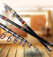 Factory direct short small sea rods fishing rod shot that 1.8-3.6M carbon overbearing telescopic fishing rod fishing rod