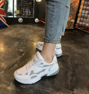 2020 spring summer new Korean uizzang Harajuku sport shoes, running shoes soled shoes light