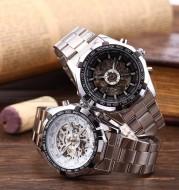Winner winner340 classic style men's fashion leisure luminous hollow automatic mechanical watches