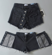 High Waist Denim Skirt Shorts