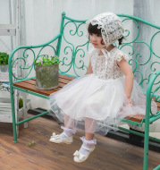 2021 summer, light breathable baby princess dress, baby dress, lace dress, full moon, 100 year old skirt