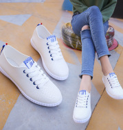 White shoes new summer student shoes lady flat Strappy running shoes women shoes wholesale