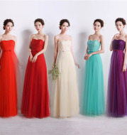 Tube Wedding Gown Sisters Bridesmaid Dresses Toastmaster Evening Dress Formal Dress