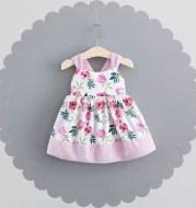 Girls dress a 2021 on behalf of the new summer dress printing sub children 440 girls