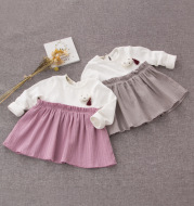 Female female baby baby dress autumn Princess Dress Girls infant skirt Taobao sourcing agent E3022